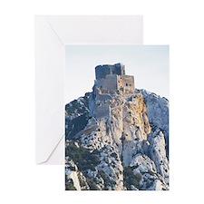 Chateau de Queribus. Chateau de Peyr Greeting Card
