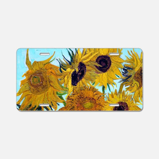 Bags VG Sunflowers Aluminum License Plate
