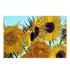 Bags VG Sunflowers Postcards (Package of 8)