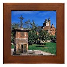 Collonges-la-Rouge. The red-sandstone  Framed Tile