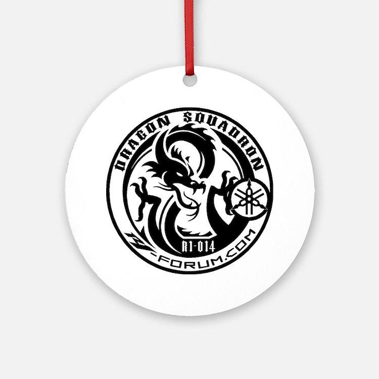 new d logo Round Ornament