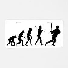 evolution baseball14x6 Aluminum License Plate