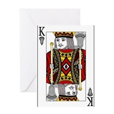 Lacrosse King of Spades Greeting Card