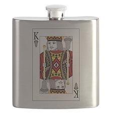 Lacrosse King of Spades Flask