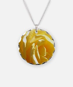 Yellow Rose.of Texas Necklace