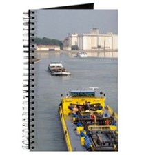 Barge on the Rhine River between France an Journal