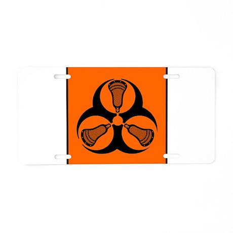 Lacrosse Hazard Aluminum License Plate