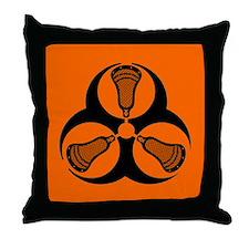 Lacrosse Hazard Throw Pillow