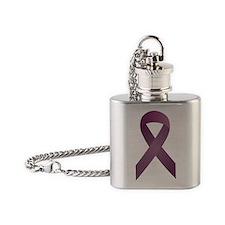 Epilepsy Awareness Ribbon_large Flask Necklace