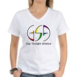 GSA Spin Women's V-Neck T-Shirt