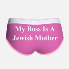 My Boss Is A Jewish Mother BW Women's Boy Brief