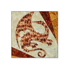 "Dragon of Fire Square Sticker 3"" x 3"""