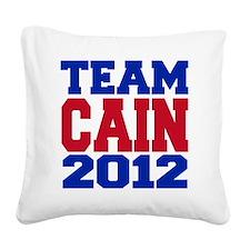 team cain Square Canvas Pillow