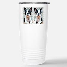 flip flops french bulldog Travel Mug