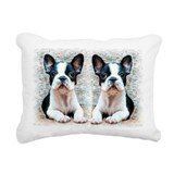 French bulldog Rectangle Canvas Pillows