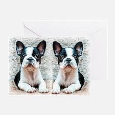 flip flops french bulldog Greeting Card