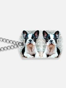 flip flops french bulldog Dog Tags