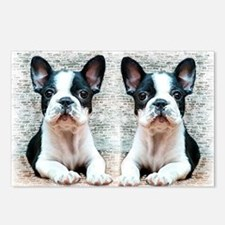 flip flops french bulldog Postcards (Package of 8)