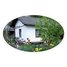 Cottage garden in Spring, Straubing Decal
