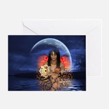 Moon Godess Greeting Card