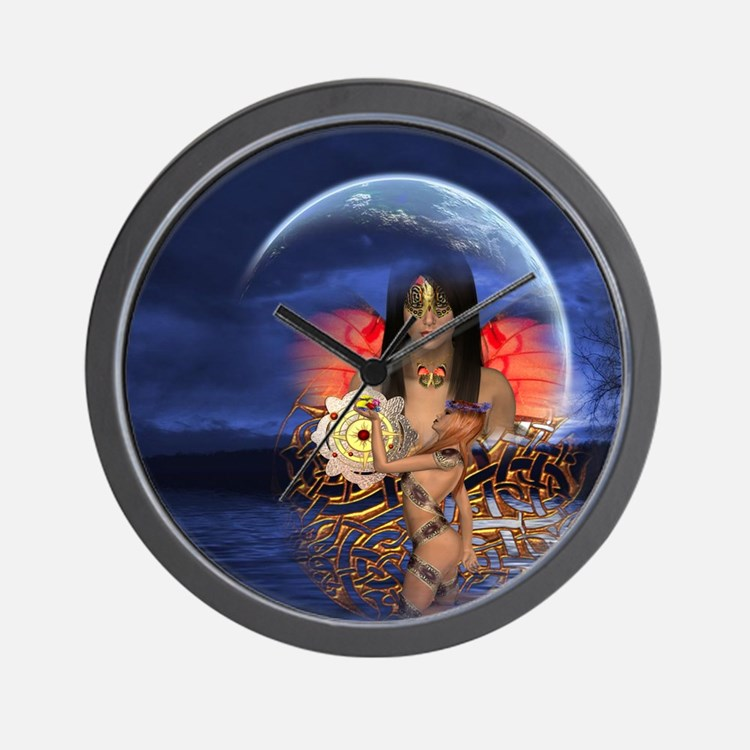 Moon Godess Wall Clock
