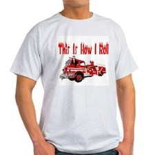 How I Roll- Fire Truck T-Shirt