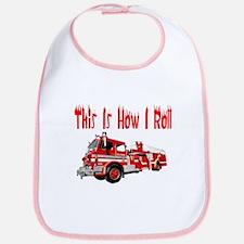 How I Roll- Fire Truck Bib