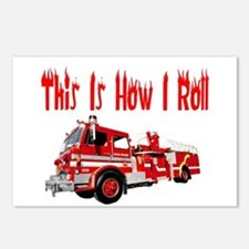 How I Roll- Fire Truck Postcards (Package of 8)