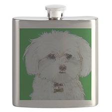 5x7 Maltese Flask