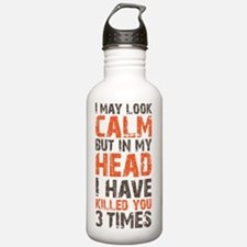 calm copy Water Bottle