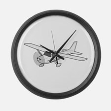 Private Airplane Large Wall Clock