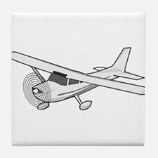 Private Airplane Tile Coaster