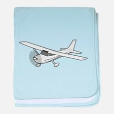 Private Airplane baby blanket