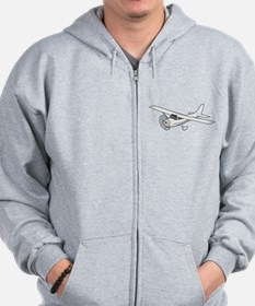 Private Airplane Zip Hoodie