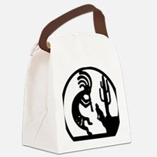 Kokopelli with wolf Canvas Lunch Bag