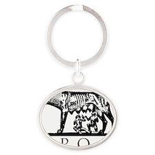 She-Wolf SPQR Oval Keychain