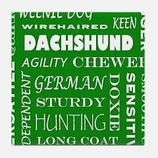 DACHSHUND_edited-1 Tile Coaster