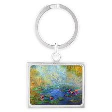 Coin Monet Nymph2 Landscape Keychain