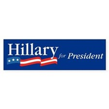 Hillary for President Bumper Bumper Sticker