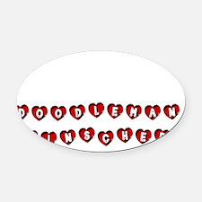 DOODLEMAN PINSCHER Oval Car Magnet