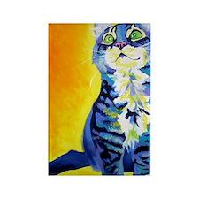 cat - kitten stripes - P Rectangle Magnet