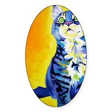cat - kitten stripes - P Decal
