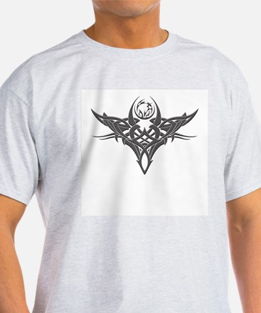 Tribal Tattoo Ash Grey T-Shirt