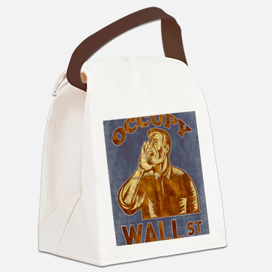 Occupy Wall Street American Worke Canvas Lunch Bag