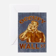 Occupy Wall Street American Worker Greeting Card