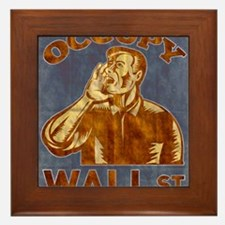 Occupy Wall Street American Worker Framed Tile