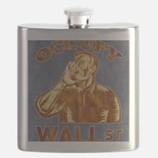 Occupy Wall Street American Worker Flask