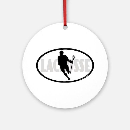 Lacrosse IRock Oval II Ornament (Round)