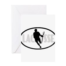 Lacrosse IRock Oval II Greeting Card