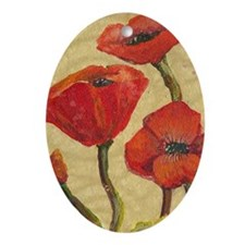 poppy-parade441_iphone_case Oval Ornament